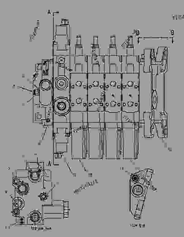 Parts scheme 1539040 VALVE GROUP-BANK 4   - CHALLENGER Caterpillar 45 - Challenger 35 & Challenger 45 Agricultural Tractors 60 in (1524 mm) Base Gauge ABF00001-UP (MACHINE) POWERED BY 3116 Engine HYDRAULIC SYSTEM | 777parts