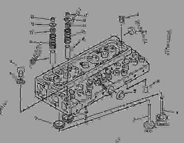 Parts scheme 1627858 CYLINDER HEAD GROUP   - ASPHALT PAVER Caterpillar AP-800C - CATERPILLAR AP-800C BARBER-GREENE BG-230 Asphalt Pavers 1PM00001-UP (MACHINE) POWERED BY 3054 Engine BASIC ENGINE | 777parts