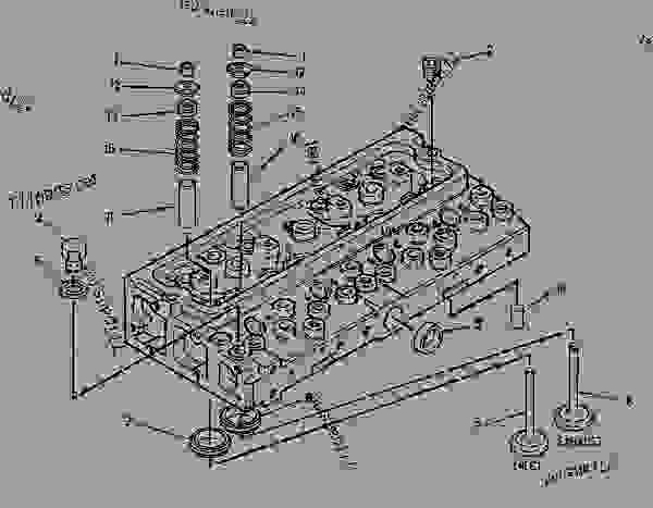 Parts scheme 1646098 CYLINDER HEAD GROUP   - ASPHALT PAVER Caterpillar BG-230 - CATERPILLAR AP-800C BARBER-GREENE BG-230 Asphalt Pavers 9AL00001-UP (MACHINE) POWERED BY 3054 Engine BASIC ENGINE | 777parts