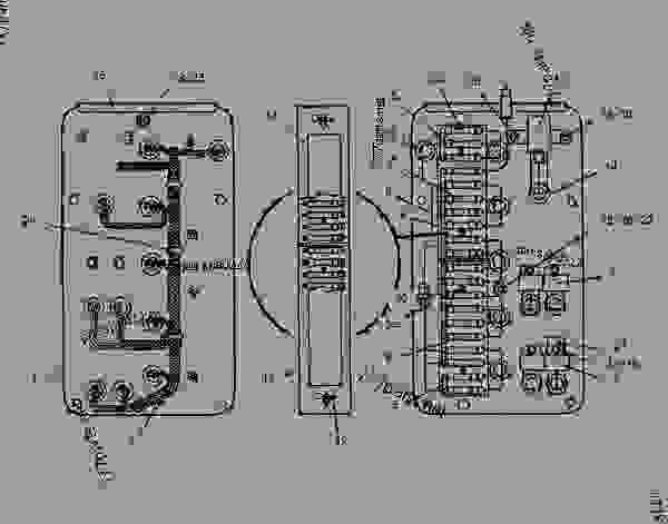 8i4886 Panel Group Fuse Telehandler Caterpillar Th63 Th63, Th82 - Wiring Diagram