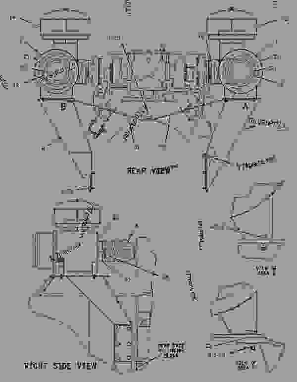 Parts scheme 1115041 AIR CLEANER GROUP   - ENGINE - GENERATOR SET Caterpillar 3412 - 3412C Generator Set TGC00001-UP AIR INLET AND EXHAUST SYSTEM | 777parts