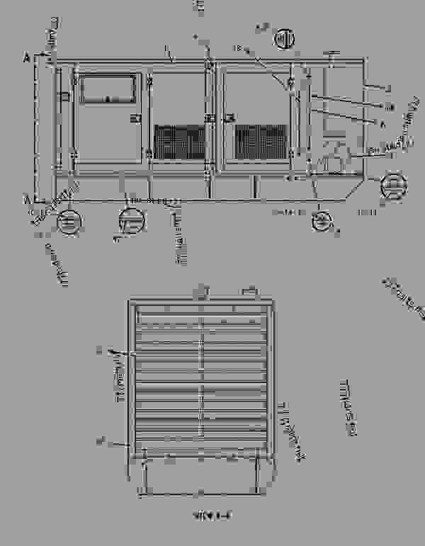 Parts scheme 1497909 ENCLOSURE GROUP-GENERATOR   - ENGINE - GENERATOR SET Caterpillar 3306B - 3306 Generator Set 8NS00001-UP ENCLOSURES, GUARDS AND BASES | 777parts