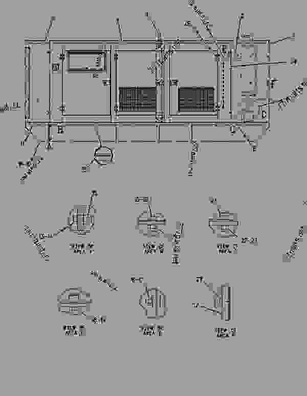Parts scheme 1497896 ENCLOSURE GROUP-GENERATOR   - ENGINE - GENERATOR SET Caterpillar 3306B - 3306 Generator Set 8NS00001-UP ENCLOSURES, GUARDS AND BASES | 777parts