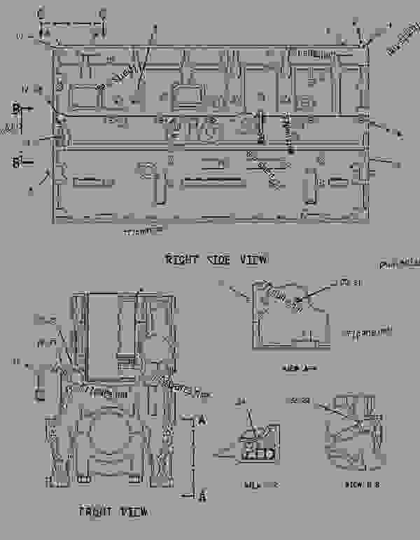 Parts scheme 1378471 CYLINDER BLOCK GROUP   - EARTHMOVING COMPACTOR Caterpillar 836G - 836G Landfill Compactor 3456 Engine 7MZ00001-UP (MACHINE) BASIC ENGINE | 777parts