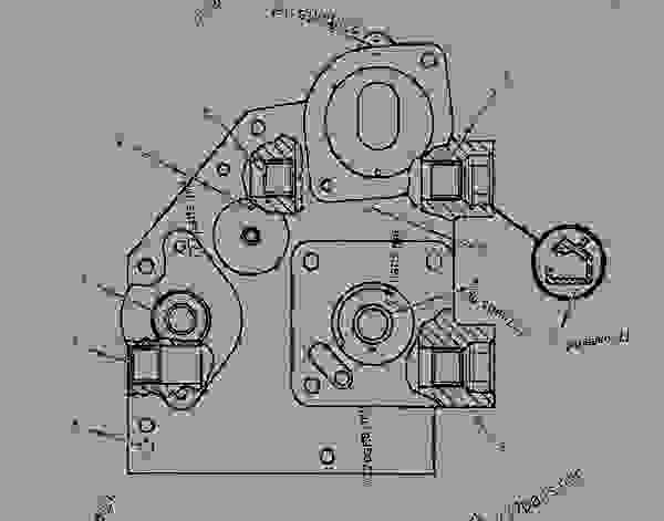 Parts scheme 8N3224 HOUSING AS-GOVERNOR DRIVE   - ENGINE - GENERATOR SET Caterpillar 3306 - 3306 Generator Set 85Z00001-03763 FUEL SYSTEM | 777parts