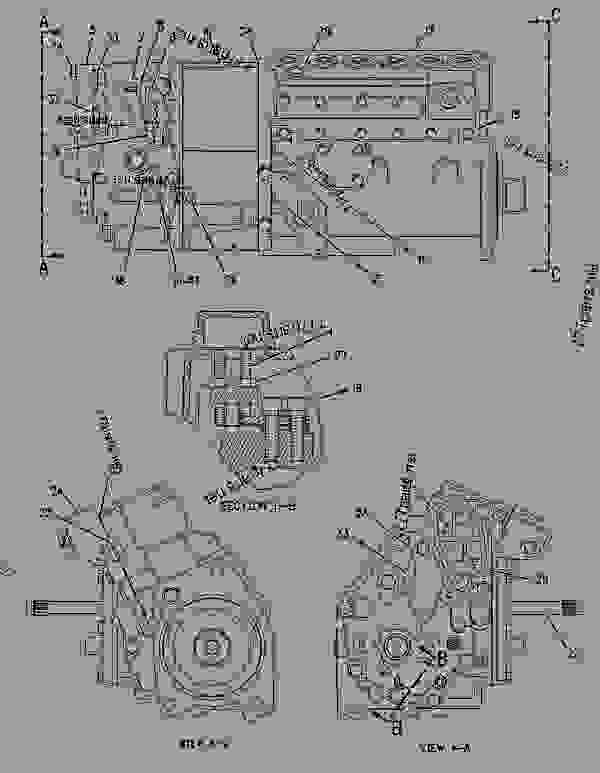 Parts scheme 7W9364 PUMP GROUP-GOV & FUEL INJ PUMP GP-GOVERNOR & FUEL INJECTION - ENGINE - GENERATOR SET Caterpillar 3306 - 3306 Generator Set Engine 5JC00001-UP FUEL SYSTEM | 777parts