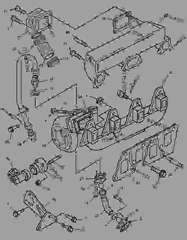Parts scheme 1389809 TURBOCHARGER GROUP   - ASPHALT PAVER Caterpillar AP-800C - CATERPILLAR AP-800C BARBER-GREENE BG-230 Asphalt Pavers 1PM00001-UP (MACHINE) POWERED BY 3054 Engine AIR INLET AND EXHAUST SYSTEM | 777parts