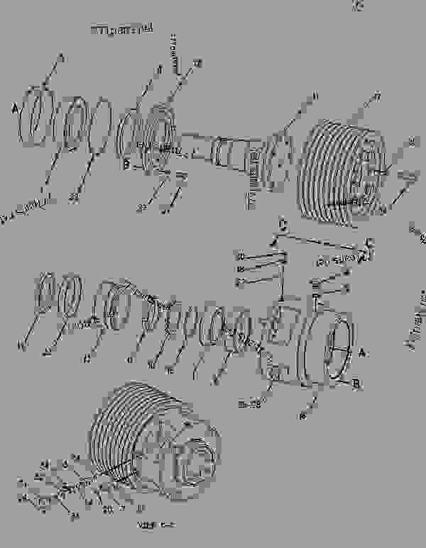 Parts scheme 1312925 PULLEY GROUP-UPPER   - COLD PLANER Caterpillar PM-465 - PM-465 Cold Planer 5ZS00001-UP (MACHINE) POWERED BY 3406 Engine IMPLEMENTS | 777parts