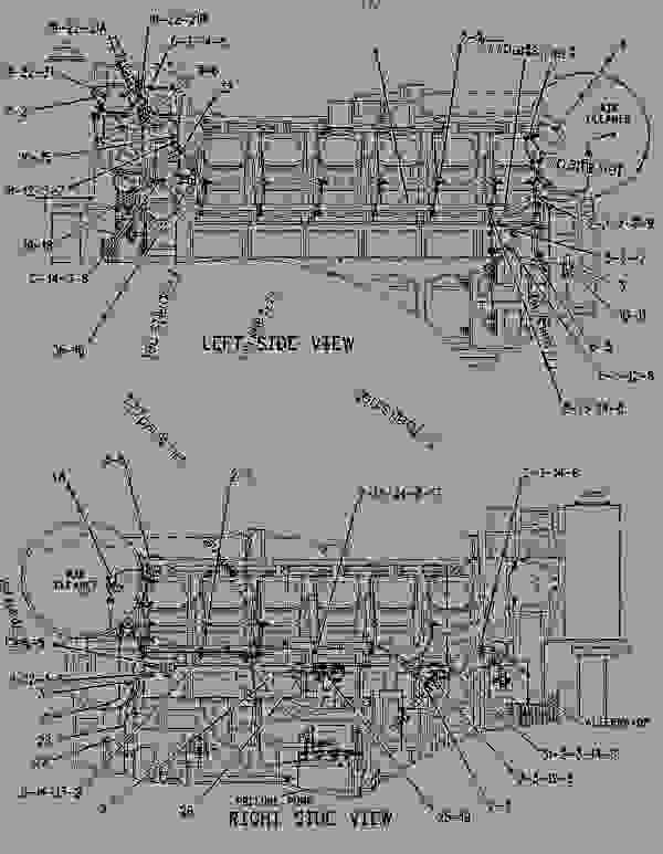 1504198 wiring group-electric starting -single electric start - engine