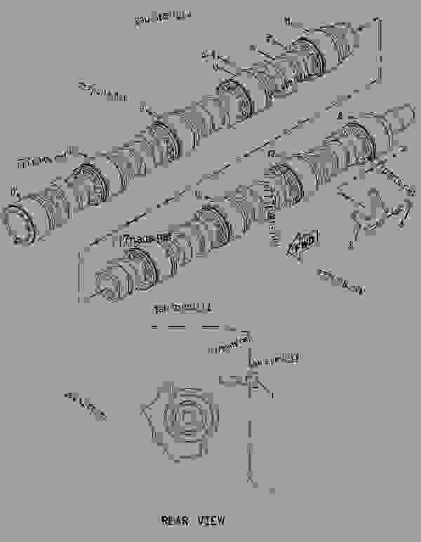 Parts scheme 7C6941 CAMSHAFT GROUP  - ENGINE - INDUSTRIAL Caterpillar 3608 - 3608 GENERATOR, INDUSTRIAL, LOCOMOTIVE AND MARINE January 1980 to December 1997 6MC00001-UP BASIC ENGINE | 777parts