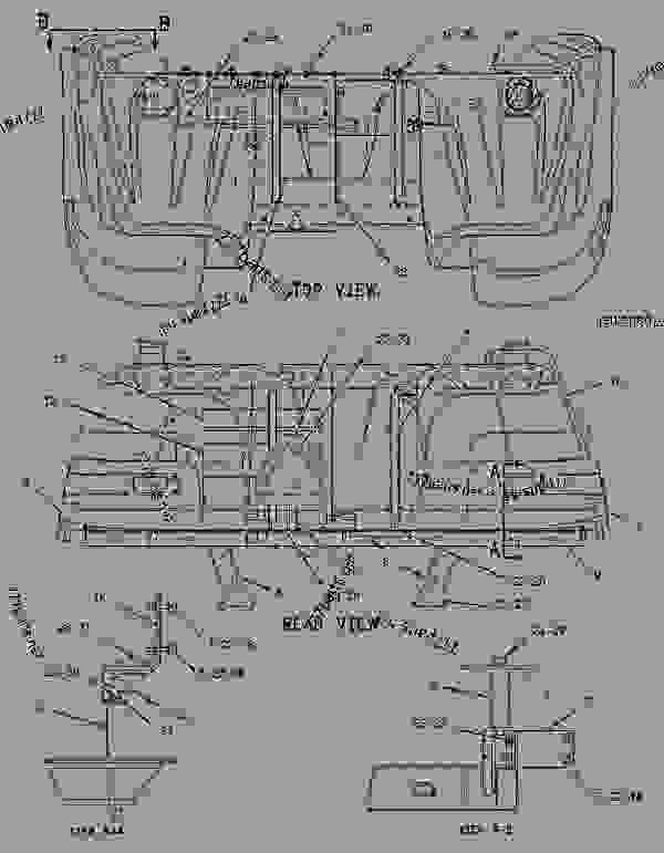 Parts scheme 1366068 MOUNTING GROUP-TANK   - CHALLENGER Caterpillar 65E - Challenger 65E Agricultural Tractor 6GS00001-UP (MACHINE) POWERED BY 3176C Engine FRAME AND BODY | 777parts