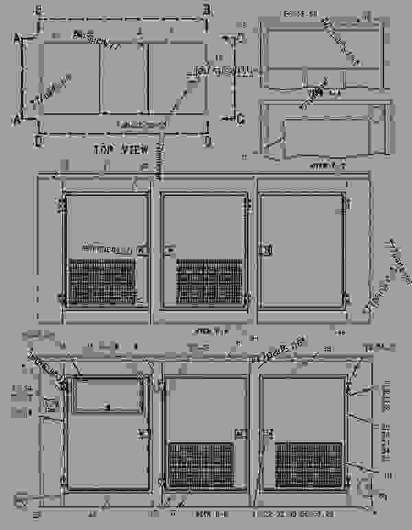 Parts scheme 1719899 ENCLOSURE GROUP-GENERATOR   - ENGINE - GENERATOR SET Caterpillar 3306B - 3306 Generator Set 8NS00001-UP ENCLOSURES, GUARDS AND BASES | 777parts
