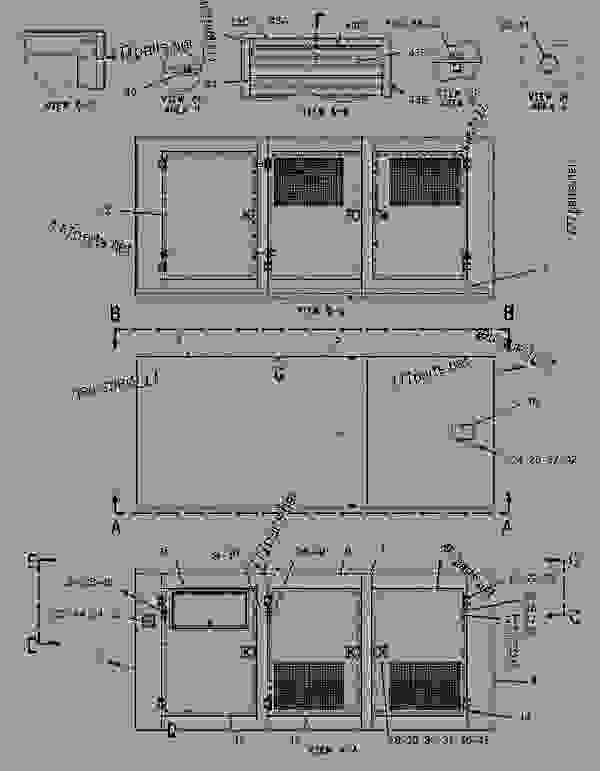 Parts scheme 1719900 ENCLOSURE GROUP-GENERATOR   - ENGINE - GENERATOR SET Caterpillar 3306B - 3306 Generator Set 8NS00001-UP ENCLOSURES, GUARDS AND BASES | 777parts