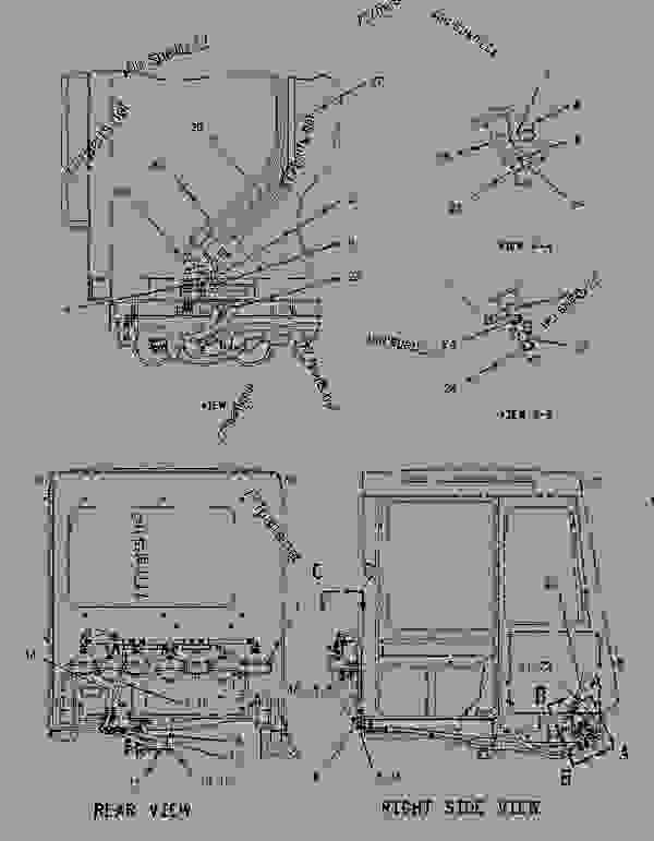 Parts scheme 1374753 CONTROL GROUP-SERVICE BRAKE  -FRONT - ARTICULATED DUMP TRUCK Caterpillar D300E II - D300E Series II Articulated Truck 5KS00001-00617 (MACHINE) POWERED BY 3306 Engine BRAKING SYSTEM | 777parts