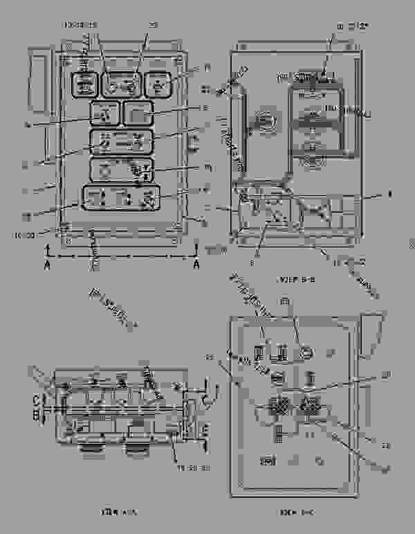 Parts scheme 1074023 BOX GROUP-SCREED CONTROL  -RH - ASPHALT PAVER Caterpillar 10-20B - 10-20B EXTEND-A-MAT Screed 2KN00001-UP ELECTRICAL SYSTEM | 777parts
