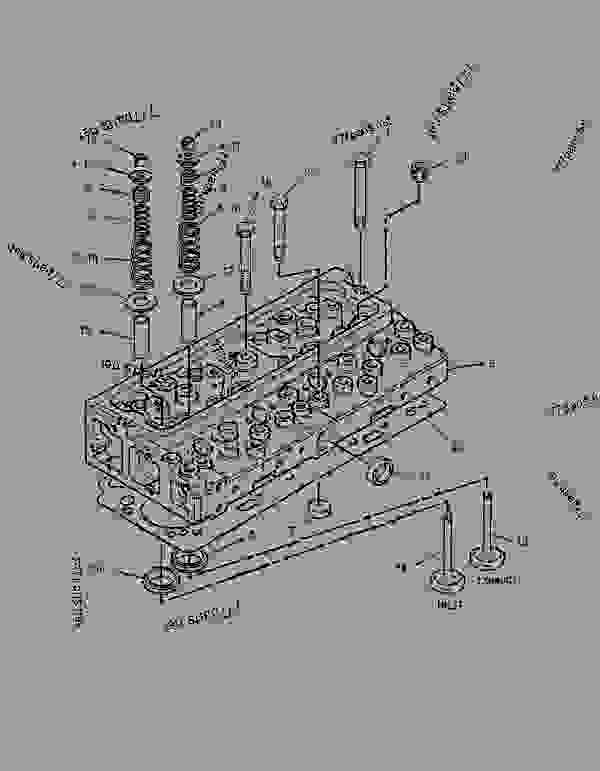 Parts scheme 1306764 CYLINDER HEAD GROUP   - BACKHOE LOADER Caterpillar 416C - 416C Backhoe Loader Center Pivot, Single Tilt 5YN00001-15147 (MACHINE) POWERED BY 3054 Engine BASIC ENGINE | 777parts