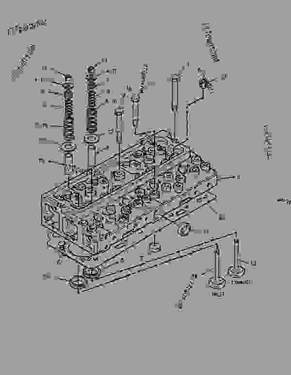 Parts scheme 1306764 CYLINDER HEAD GROUP   - BACKHOE LOADER Caterpillar 416C - 416C Backhoe Loader Center Pivot, Parallel Lift 1WR00001-08115 (MACHINE) POWERED BY 3054 Engine BASIC ENGINE | 777parts