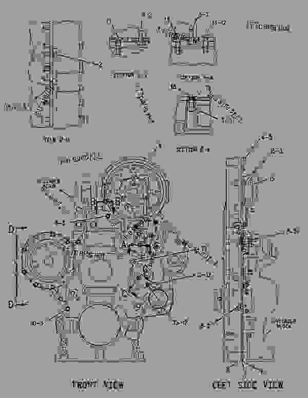 Parts scheme 1598621 HOUSING GROUP-FRONT   - CHALLENGER Caterpillar MT865 - C-12, C-15, C-16 Caterpillar Engines For AGCO Challenger BDS00001-UP (MACHINE) BASIC ENGINE | 777parts