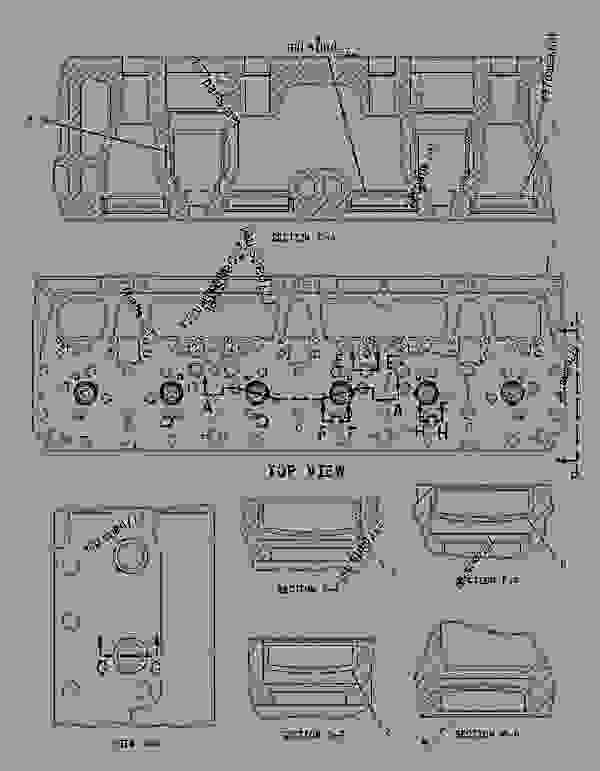 Parts scheme 1799459 CYLINDER HEAD AS   - EARTHMOVING COMPACTOR Caterpillar 815F - 815F Soil Compactor BKL00001-UP (MACHINE) POWERED BY 3176C Engine BASIC ENGINE | 777parts