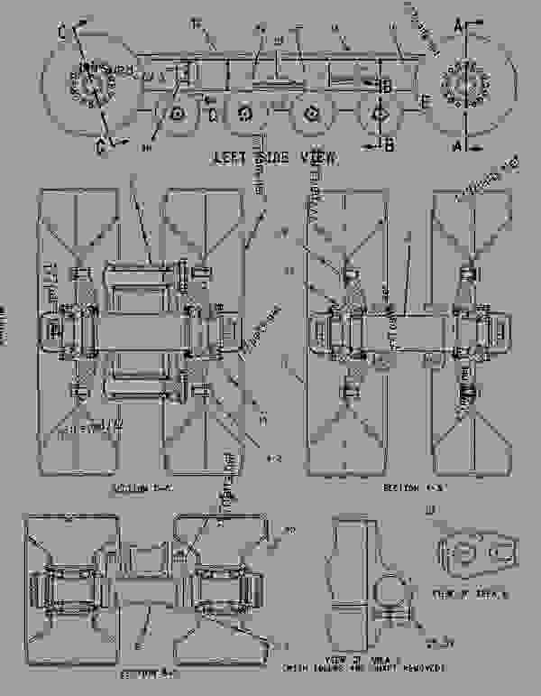 Parts scheme 1371133 SUSPENSION GROUP-LH  - CHALLENGER Caterpillar VFS50 - VFS50 & VFS70 Versatile Flotation System 8XK00001-UP (MACHINE) UNDERCARRIAGE | 777parts