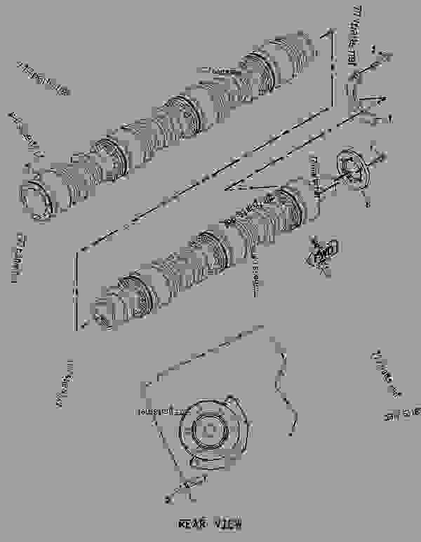 Parts scheme 7C0408 CAMSHAFT GROUP   - ENGINE - INDUSTRIAL Caterpillar G3612 - G3612 GENERATOR AND INDUSTRIAL January 1980 to December 1997 1YG00001-UP BASIC ENGINE | 777parts