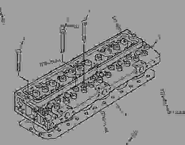 Parts scheme 2210326 CYLINDER HEAD GROUP - Caterpillar spare part | 777parts