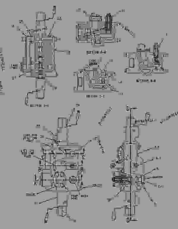 Parts scheme 1964802 VALVE GROUP-MAIN CONTROL  -SINGLE FUNCTION - EARTHMOVING COMPACTOR Caterpillar 836G - 836G Landfill Compactor 3456 Engine 7MZ00001-UP (MACHINE) HYDRAULIC SYSTEM | 777parts