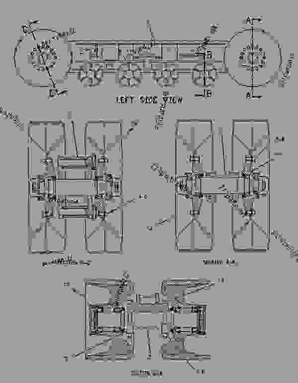 Parts scheme 1837150 SUSPENSION GROUP-LH  - CHALLENGER Caterpillar VFS70 - VFS50 & VFS70 Versatile Flotation System 7XN00001-UP (MACHINE) UNDERCARRIAGE | 777parts