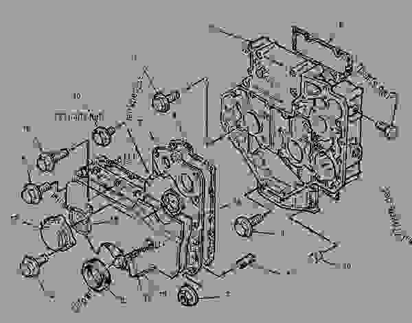 Parts scheme 6I0834 HOUSING GROUP-FRONT   - ENGINE - INDUSTRIAL Caterpillar 3054 - 3054 Industrial Engine 6FK00001-UP BASIC ENGINE | 777parts