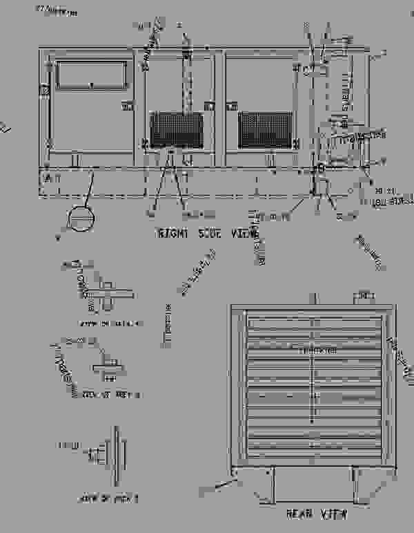 Parts scheme 1719957 ENCLOSURE GROUP-GENERATOR   - ENGINE - GENERATOR SET Caterpillar 3406E - 3406E Generator Set 8AZ00001-UP ENCLOSURES, GUARDS AND BASES | 777parts