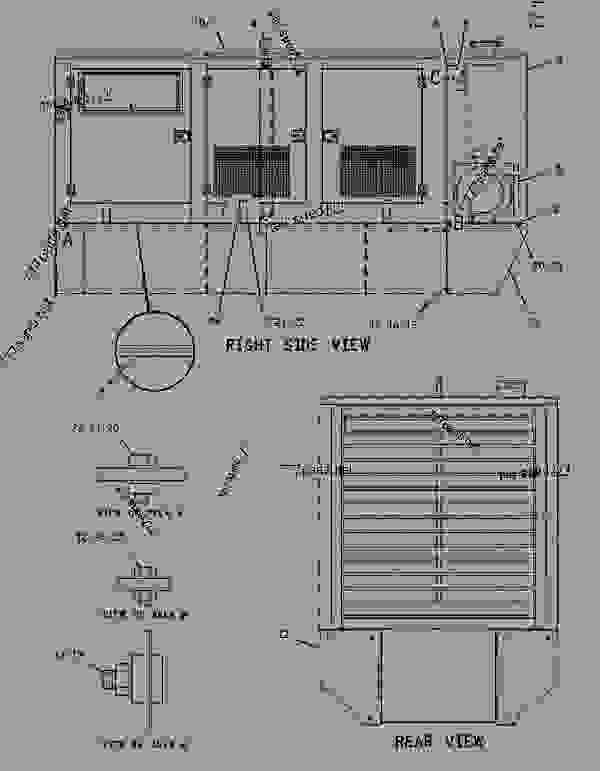 Parts scheme 1839278 ENCLOSURE GROUP-GENERATOR   - ENGINE - GENERATOR SET Caterpillar 3406E - 3406E Generator Set 8AZ00001-UP ENCLOSURES, GUARDS AND BASES | 777parts