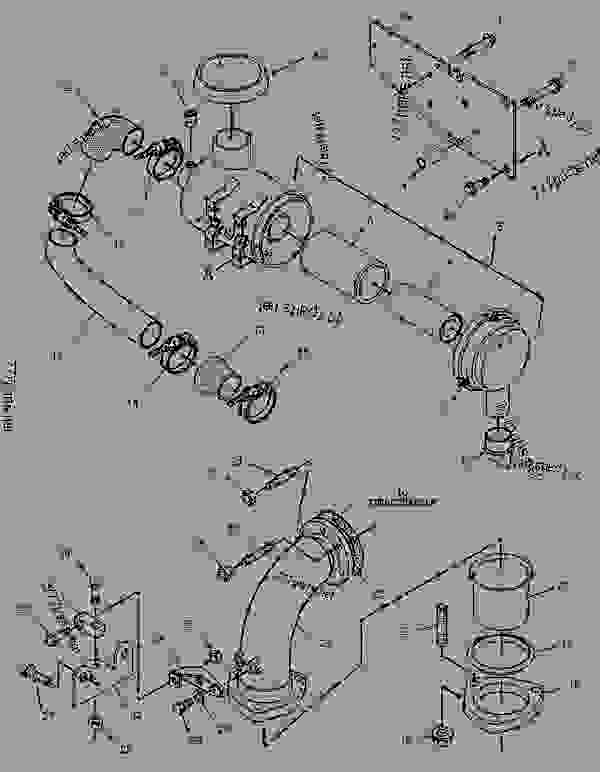 Parts scheme 1398322 AIR CLEANER GROUP   - ENGINE - GENERATOR SET Caterpillar 3056 - 3056 Generator Set Engine 7AK00001-UP AIR INLET AND EXHAUST SYSTEM | 777parts