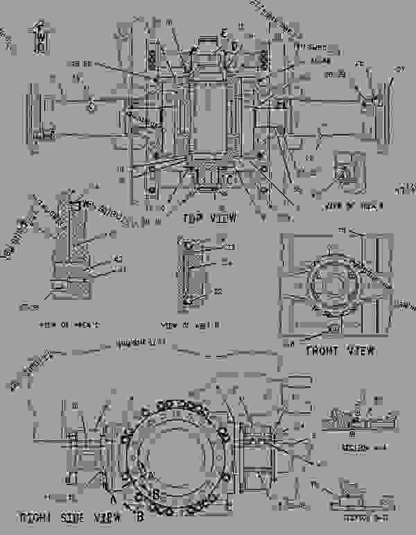 Parts scheme 1191089 HOUSING GROUP-OSCILLATING AXLE   - EARTHMOVING COMPACTOR Caterpillar 816F - 816F COMPACTOR 5FN00001-UP (MACHINE) POWER TRAIN | 777parts