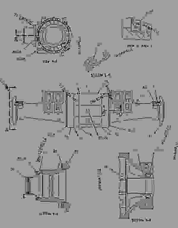 Parts scheme 1924672 HOUSING GROUP-FIXED AXLE   - EARTHMOVING COMPACTOR Caterpillar 816F - 816F Landfill Compactor BMR00001-UP (MACHINE) POWERED BY 3176C Engine POWER TRAIN | 777parts
