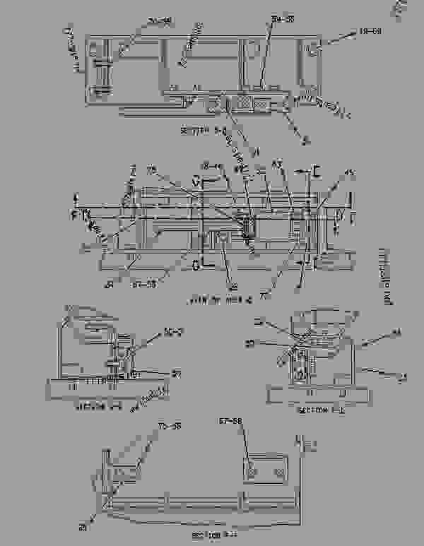 Parts scheme 1421762 LADDER & WALKWAY GROUP   - EARTHMOVING COMPACTOR Caterpillar 836G - 836G Landfill Compactor 3456 Engine 7MZ00001-UP (MACHINE) FRAME AND BODY | 777parts