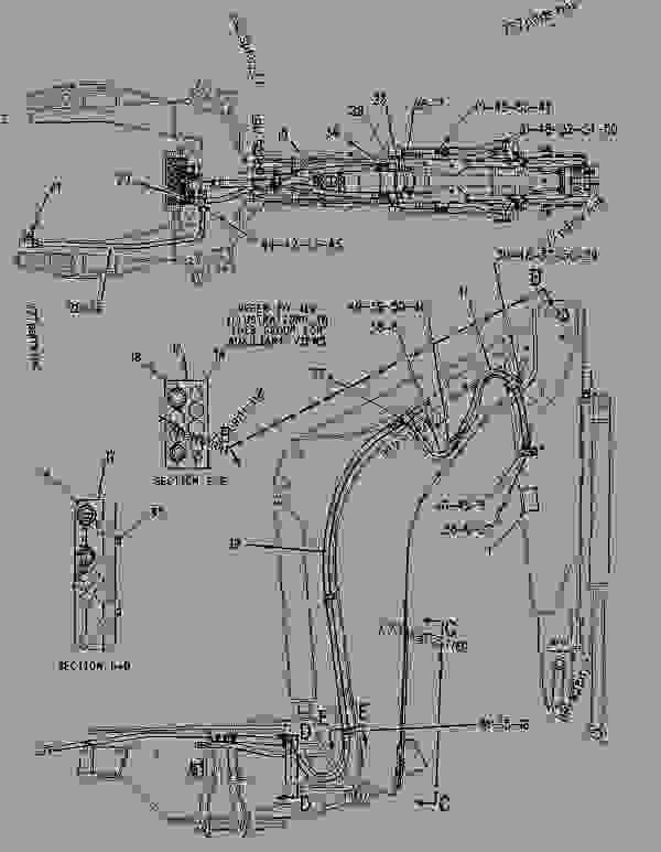 Parts scheme 1942741 LINES GROUP-BACKHOE AUXILIARY  -KIT - BACKHOE LOADER Caterpillar 430D - 430D Backhoe Loader BML00001-02280 (MACHINE) POWERED BY 3054 Engine HYDRAULIC SYSTEM | 777parts