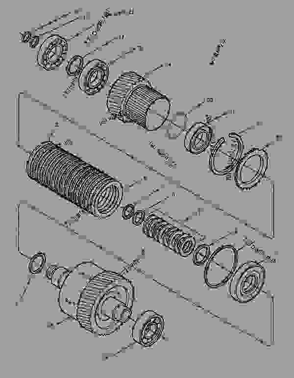 Parts scheme 1256767 CLUTCH AS  -6TH - CHALLENGER Caterpillar 35 - Challenger 35 and Challenger 45 Agricultural Tractors 8DN00001-00849 (MACHINE) POWERED BY 3116 Engine POWER TRAIN | 777parts