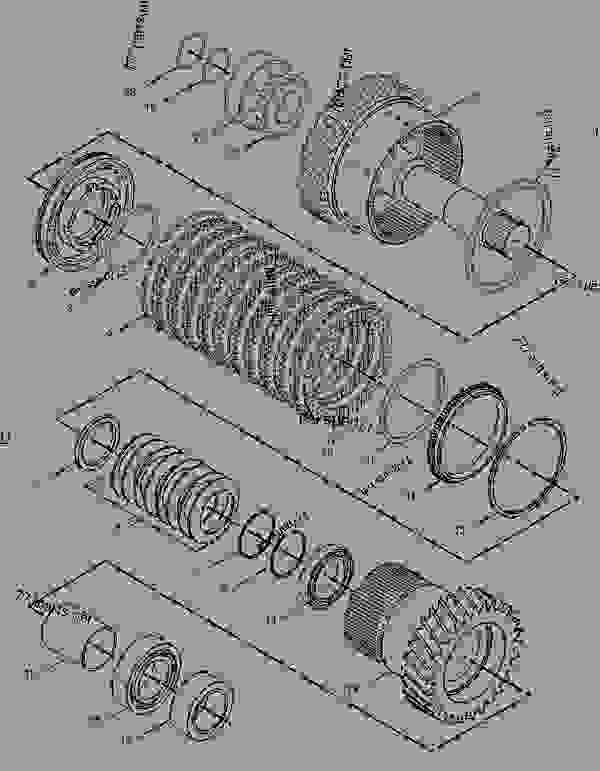 Parts scheme 1630432 CLUTCH AS  -7TH - CHALLENGER Caterpillar 35 - Challenger 35 and Challenger 45 Agricultural Tractors 8DN00001-00849 (MACHINE) POWERED BY 3116 Engine POWER TRAIN | 777parts
