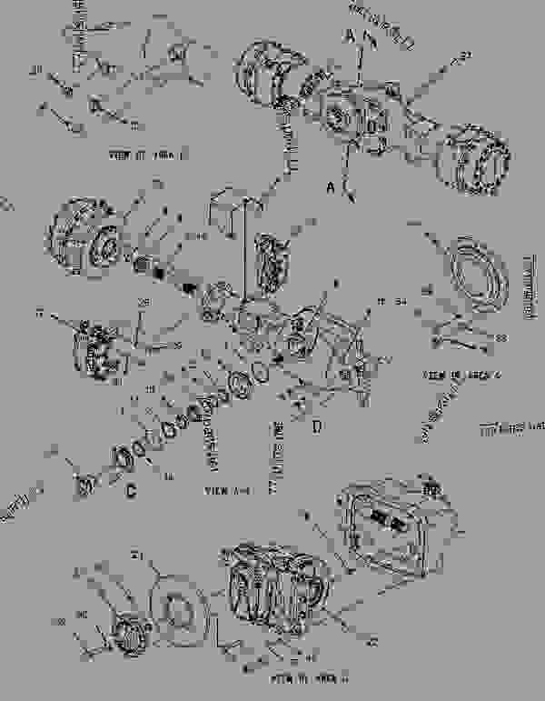 Parts scheme 1508280 AXLE AR-REAR  -SUSPENSION - ARTICULATED DUMP TRUCK Caterpillar 730 - 730 Articulated Truck AGF00001-UP (MACHINE) POWERED BY 3196 Engine POWER TRAIN | 777parts