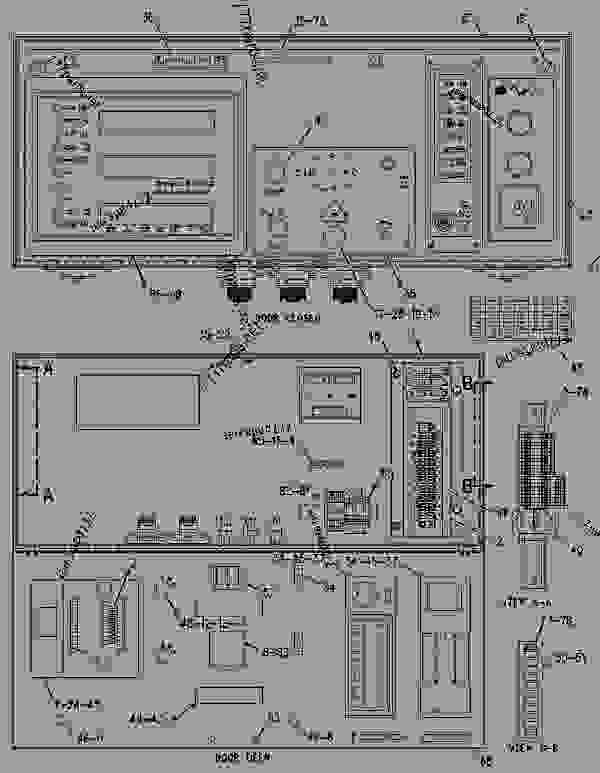 Parts scheme 1876309 PANEL GROUP-CONTROL   - ENGINE - GENERATOR SET Caterpillar 3508B - 3508B Generator Set CNB00001-UP OPERATOR STATION | 777parts