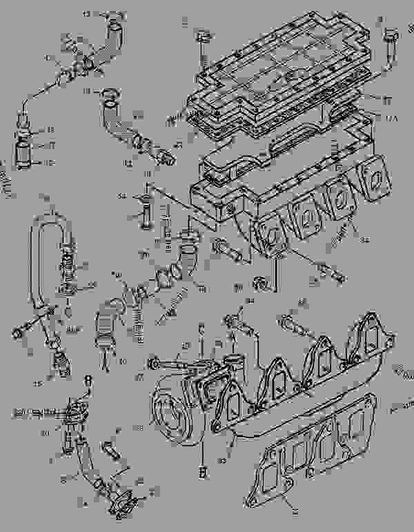 Parts scheme 1416162 TURBOCHARGER GROUP   - ASPHALT PAVER Caterpillar AP-650B - CATERPILLAR AP-650B, BARBER-GREENE BG-225C Asphalt Pavers 9DN00001-UP (MACHINE) POWERED BY 3054 Engine AIR INLET AND EXHAUST SYSTEM | 777parts