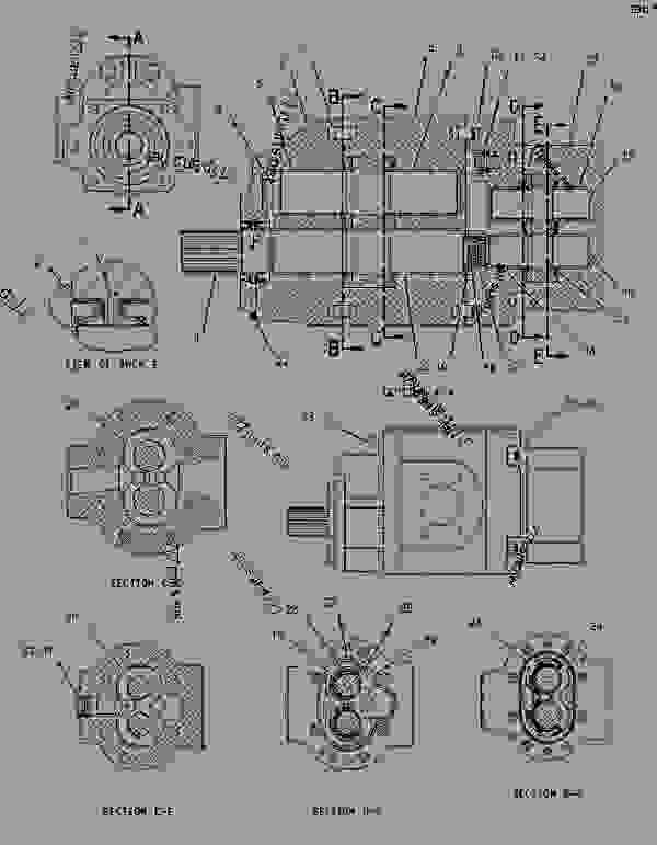 Parts scheme 1908756 PUMP GROUP-GEAR  -IMPLEMENT, PILOT, BRAKE - EARTHMOVING COMPACTOR Caterpillar 836G - 836G Landfill Compactor 3456 Engine 7MZ00001-UP (MACHINE) HYDRAULIC SYSTEM | 777parts