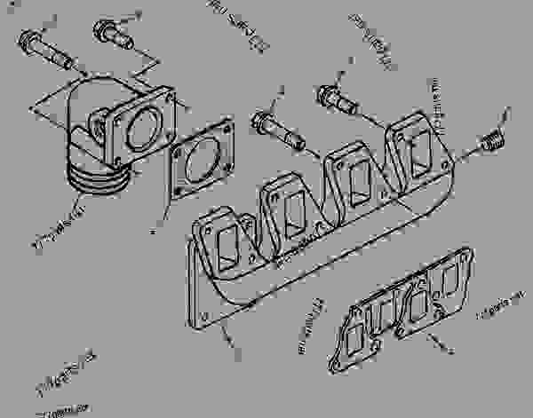 Parts scheme 1983161 MANIFOLD GROUP-INLET   - ENGINE - INDUSTRIAL Caterpillar 3054 - 3054 Industrial Engine 5YS00001-UP AIR INLET AND EXHAUST SYSTEM | 777parts