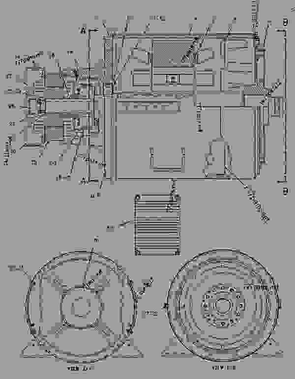 Parts scheme 1889852 GENERATOR GROUP   - ENGINE - GENERATOR SET Caterpillar 3304B - 3304B(XQ125) Rental Generator Set DED00001-UP GENERATORS | 777parts