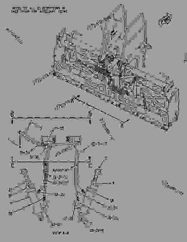 Parts scheme 1975285 LINES GROUP-SLOPE   - ASPHALT PAVER Caterpillar AS2301 - AS2301 Screed AKC00001-UP HYDRAULIC SYSTEM | 777parts