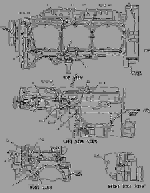 Parts scheme 1242675 WIRING GROUP-ELECTRONIC CONTROL   - CHALLENGER Caterpillar 65E - Challenger 65E Agricultural Tractor 6GS00001-UP (MACHINE) POWERED BY 3176C Engine ELECTRICAL AND STARTING SYSTEM | 777parts