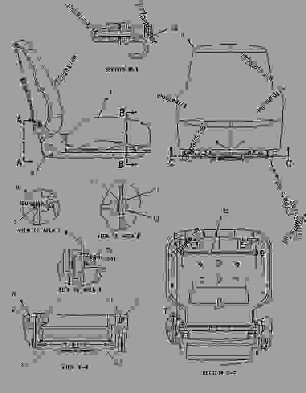 Parts scheme 1780603 SEAT GROUP (FABRIC) - EARTHMOVING COMPACTOR Caterpillar 826G II - 2Q-8040 Steering Arrangement-Stic Custom Product Support Literature for the 826G Series II Landfill Compactor AYH00001-UP (MACHINE) OPERATOR STATION | 777parts