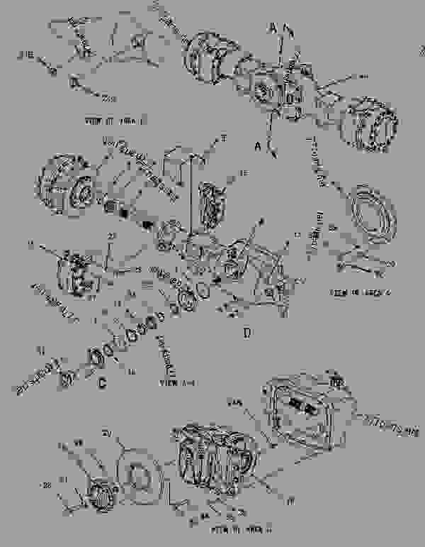Parts scheme 1476800 AXLE GROUP-CENTER   - ARTICULATED DUMP TRUCK Caterpillar 730 - 730 Articulated Truck AGF00001-UP (MACHINE) POWERED BY 3196 Engine POWER TRAIN | 777parts