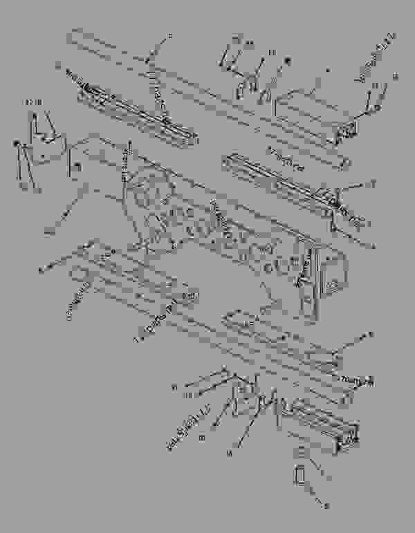 Parts scheme 1975286 CARRIAGE GROUP-EXTENDER   - ASPHALT PAVER Caterpillar AS2301 - AS2301 Screed AKC00001-UP FRAME AND BODY | 777parts