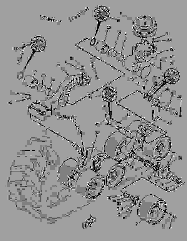 Parts scheme 1048030 SUSPENSION GROUP-BOGIE   - CHALLENGER Caterpillar 65E - Challenger 65E Agricultural Tractor 1GM00001-UP (MACHINE) POWERED BY 3176 Engine UNDERCARRIAGE | 777parts